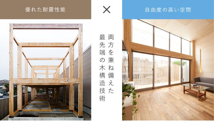 優れた耐震性能 × 自由度の高い空間 両方を兼ね備えた最先端の木構造技術